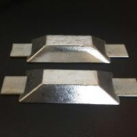 Alloy Sacrificial Anode Zinc Anode With Double Iron Feet For Ships Boats