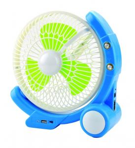 China High Brightness Emergency LED Rechargeable Fan Long Life Time on sale