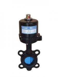 China Solenoid High Pressure Electric Butterfly Valve Air Flow Control 50 60 Hz on sale