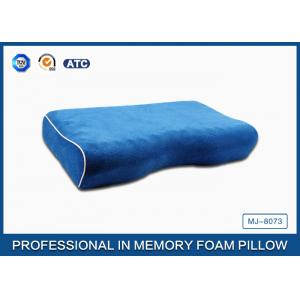 China Jade Massage Curved Memory Side Sleeper Memory Foam Pillow with Cotton Velvet Cover on sale
