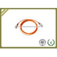 Custom Duplex Multimode SC To SC Fiber Patch Cable , Fiber Optic Jumper Cables