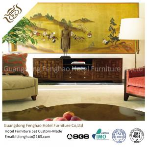 China Villa Walnut Hallway Rustic Wood Console Table TV Cabinet  Handmade Large Size on sale