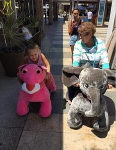 China Hansel attractive stuffed animal plush electric ride on animalel kids mall on sale