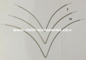 China Bra Accessories V Shape Bra Wire Fix Nickle Safety For Human Skin S / L / M on sale