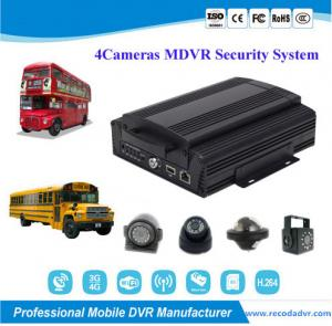 China 720P Truck School Bus 4 Camera Car DVR Security Monitoring System on sale