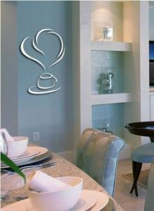 China Best selling simple mirror PS wall decal 1MM thickness 3D mirror stickers home decoration on sale