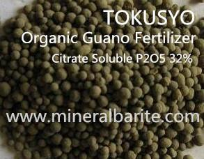 China Brown Organic Guano Fertilizer Citrate Soluble P2O5 32% Natural 2 - 6 Mm Pellet on sale