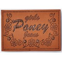 Washable Custom Clothing Patches Pvc Clothing Labels Shoes Bags Application