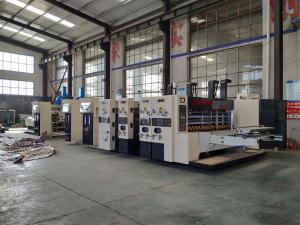 China Cardboard Corrugated Box Manufacturing Machine Printing Gluign Equipment on sale