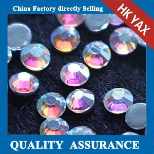 China top quality crystal AB hotfix stone,crystal stone hot fix china wholesale,hot fix stone for garment on sale