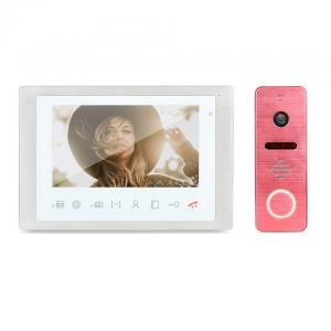 China Unique pink color outdoor camera with rain cover video door phone HD video doorbell full duplex intercom system on sale