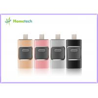 Mobile Phone USB Flash Drive For IOS / Android , I- Easy Drive With Aluminum Alloy Material