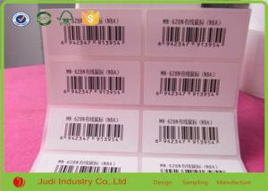 China Custom Logo Printing Barcode Sticker Labels , 3D Transparent Removable Adhesive Paper on sale