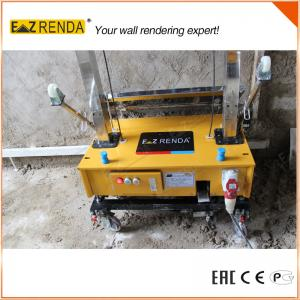 China Steel Chain Wall Render Products Mechanical Plastering Machine Yellow Colour on sale