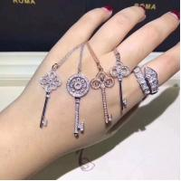 China jewelry Korea design long chain sweater necklace crystal pearl key fashion necklace 100 1 on sale