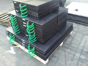 China 600x600x50mm polyethylene plastic crane leg jack pad black color on sale