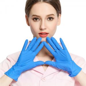 China Electronic Component Rubber Disposable Nitrile Gloves on sale