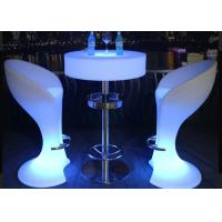 China Remote Control Illuminated LED Cocktail Table IP54 With Lithium Battery on sale