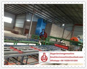 China Flujo en cadena de producción del tablero del cemento de la fibra con el material de acero de la textura on sale