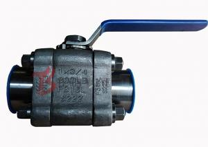 China Reduced Bore Soft Seated Ball Valve F316L , 800LB Small Forged Ball Valve on sale