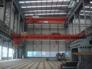 China Cabin / Remote Control 100 Ton QD Type Double Girder Overhead Crane on sale
