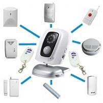 China MMS camera video surveillance systems integrated security Mobile GSM home security monitor systems wholesale store on sale