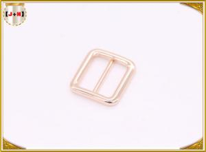 Quality Various Size Metal Ladder Lock Belt Buckle Loop For Shoes Rose Gold Rectangle for sale