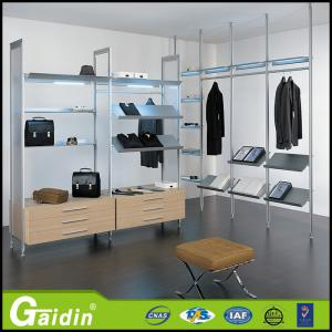 Quality Make In China Hanging Rail Systems Wardrobe Tube Aluminum Bedroom  Wardrobe For Sale