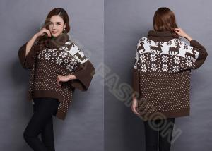 China Womens Pullover Sweaters Turtle Neck Snowflake Jacquard Pattern Autumn on sale