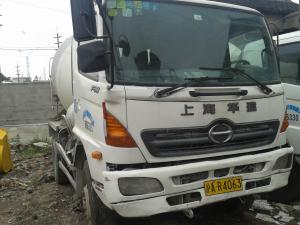 China Japan Used Concrete Mixer trcuk Hino 8cbm used cement mixer on sale