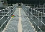 Heavy Duty Garage Floor Steel Grate , Metal Grid Flooring For Offshore