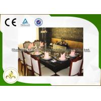 Electromagnetic Heating Rectangle Teppanyaki Grill Table With Seven Seats