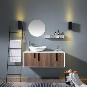 China Modern Luxury Style Single Sink Console Vanity Oak Wood Or Bamboo Wood Material on sale