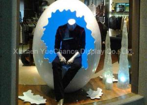 China Large Window Display Decorations Customized Giant Fiberglass Egg Statue on sale