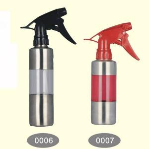 China 350ml, 250ml Stainless Steel Acrylic Fine Mist Hair Salon Spray Bottle on sale