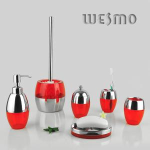 China WBL0204A grupos completos plásticos do banheiro de 4 partes com prato de sabão on sale