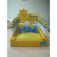 Foldable Pop Cardboard Display , PDQ Counter Display For Stationery