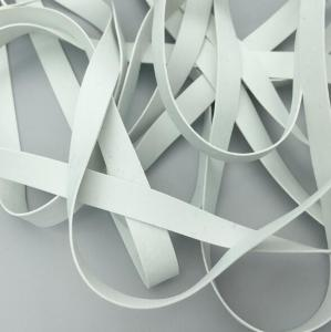 China Embossed White Natural Rubber Elastic Tape Elastic Band for Swimwear on sale