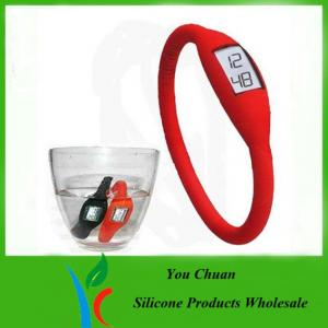 China Waterproof Black / Orange / Green Anion Silicone Wristband Watch 16cm /17cm / 18cm on sale