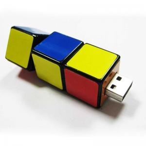 China Magic Cube Plastic USB Flash Drive, Logo Custom Sticker USB Memory Stick 1GB 2GB on sale
