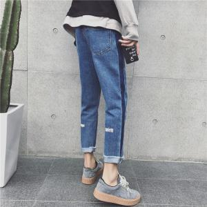 China Latest Design Womens Relaxed Tapered Leg Jeans Skinny Customized Pattern on sale
