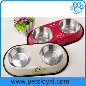 China 2016 Wholesale Cheap Travel Bone Shaped Stainless Steel Dog Bowl on sale