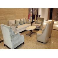 China Antique Style Hotel Lobby Furniture Luxury Sofa Set Center Table For 4 Star 5 Star on sale