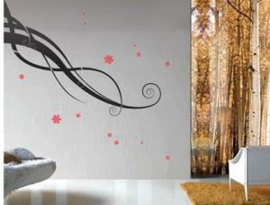 China Funky Wall Flower Stickers G044, /Decorative Wall Stickers /Decal Wall Stickers /Floral Wall Stickers on sale