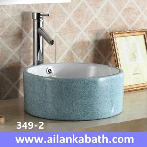 China 2016 new model fashion blue color basin rectangular shape sanitary ware  colorful art basin for bathroom on sale