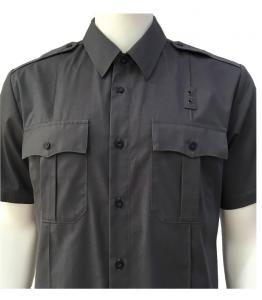 China Black poly cotton poplin offcial shirts military tactical shirt on sale