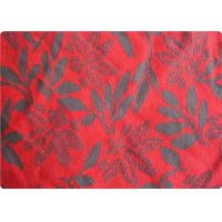 China Lightweight Red Jacquard Dress Fabric Apparel Fabric By The Yard on sale