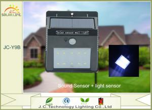 China High Powered 200LM SMD 2835 1W Solar LED Wall Light With Monocrystalline Silicon Panel on sale