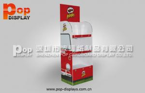 China Portable Durable Corrugated Plastic Display For Potato Chips Supermarket Promotion on sale