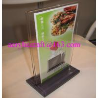 Hot Sell Table Top Acrylic Menu Holder / Acrylic Menu Stand / Lucite Table Tent